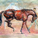 photograph of original painting by Julian Stanley - leading Up - watercolour